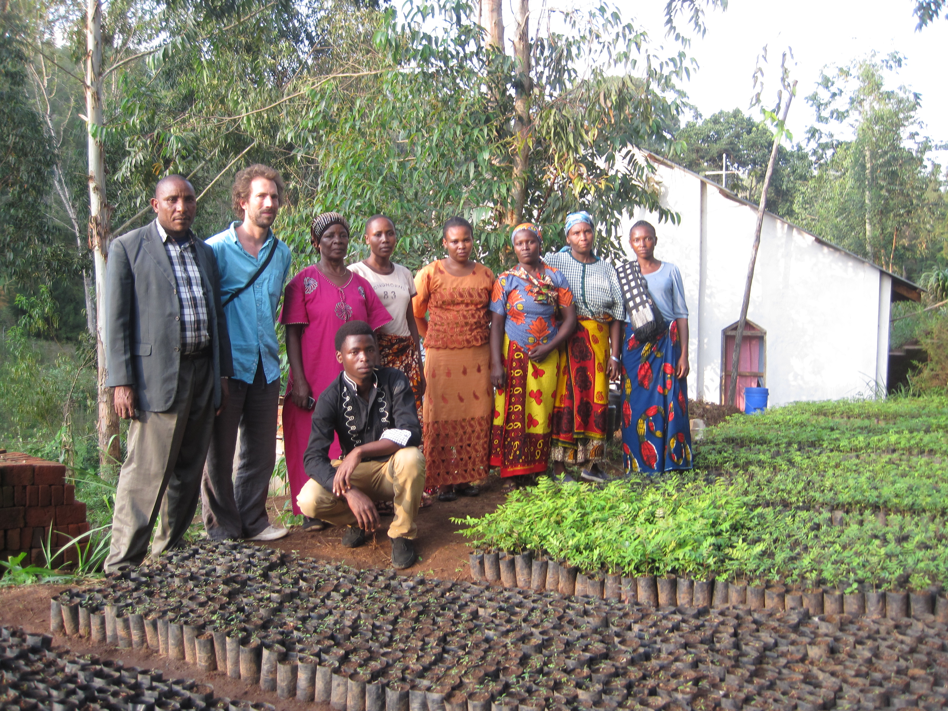 Pentecostal Church Conservation Group and their nursery behind the Church in Yoghoi