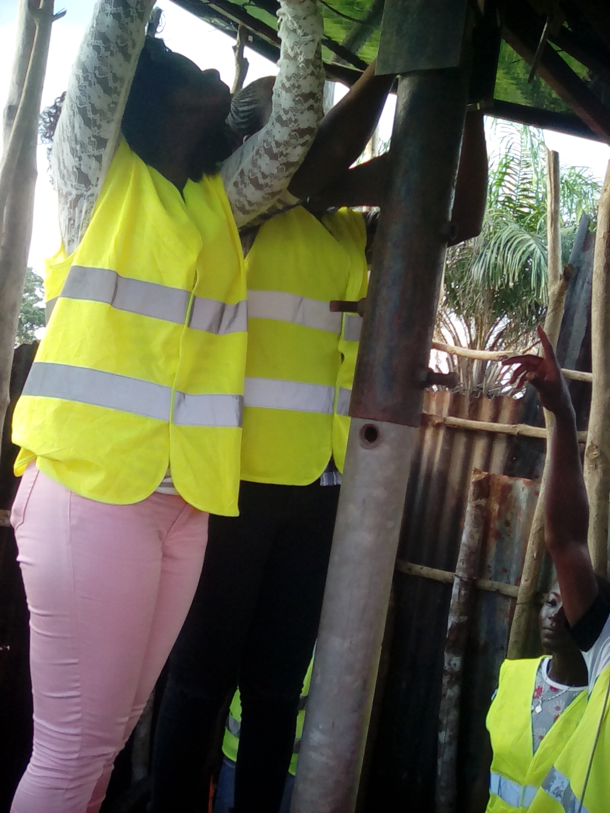 Village youth are trained in PV technology